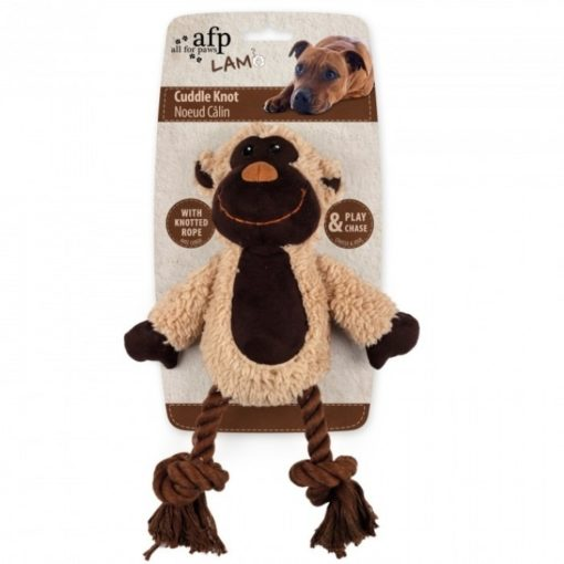 cuddle knotted rope monkey 1 - Lambswool Cuddle Knot – Monkey