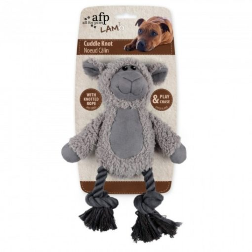 cuddle knotted rope sheep 1 - Lambswool Cuddle Knot – Sheep