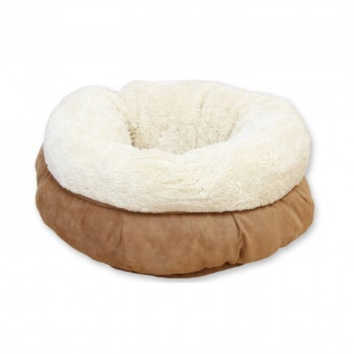 donut bed tan - AFP-Lambswool Donut Small Dog or Cat Bed - Tan-45cm
