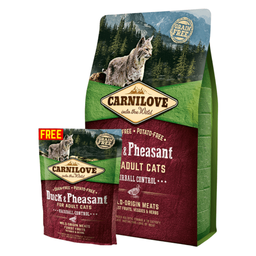 OFFER - Carnilove Duck & Pheasant For Adult Cats 2kg + 400g FREE