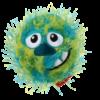 e20a3841984502aef42325edceb9777e - GiGwi Crazy Ball Plush Friendz Blue/Green