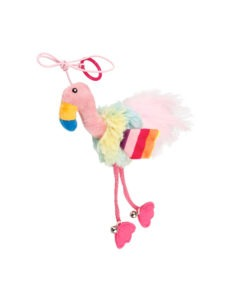 Finger ring bird Blue & Pink with Crinkle Paper and Bell inside