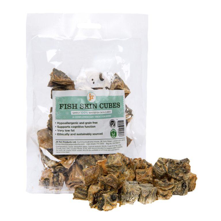 fish skin cubes 75g scaled - JR-Natural Fish Skin Cube 75g -natural Dog Treats
