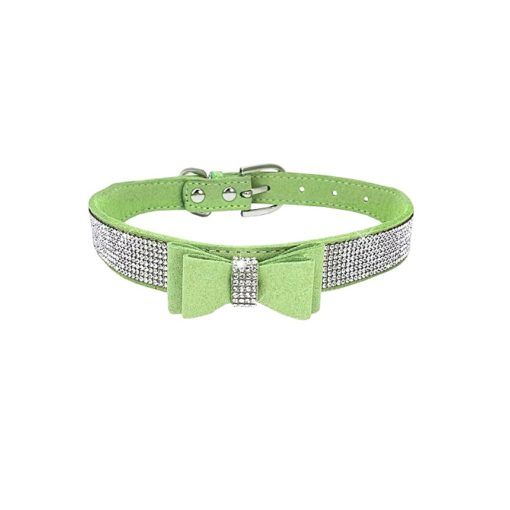 Milki Royal Bling Collars With Bow -APPLE GREEN