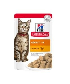 Science Plan Adult Wet Cat Food Chicken Pouches