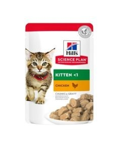 Science Plan Tender Chunks In Gravy Kitten Chicken Pouches