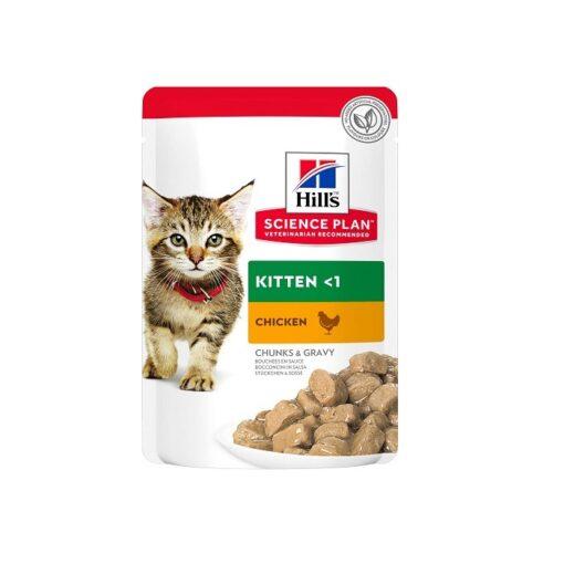 Science Plan Tender Chunks In Gravy Kitten Chicken Pouches