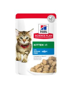Science Plan Tender Chunks In Gravy Kitten With Ocean Fish Pouches