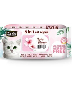 Kit Cat 5 in 1 Cat Wipes Cherry Blossom Scented