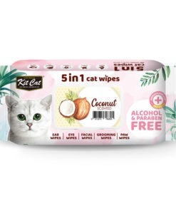 Kit Cat 5 in 1 Cat Wipes Coconut Scented