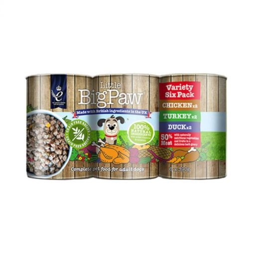 little big paw variety pack - Little Big Paw Variety Pack Dog Wet Food 6x390g