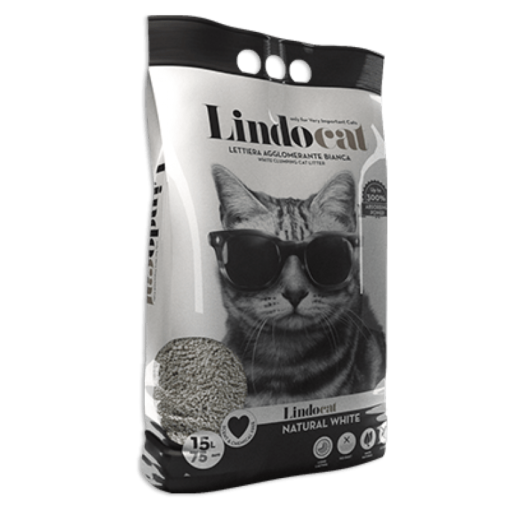 natural white15L 1 - Lindo Cat Natural White Clumping 15 L