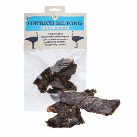 ostrich biltong - JR-Ostrich Biltong Natural Dog Treats