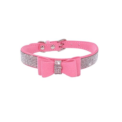 Milki Royal Bling Collars With Bow -Watermelon