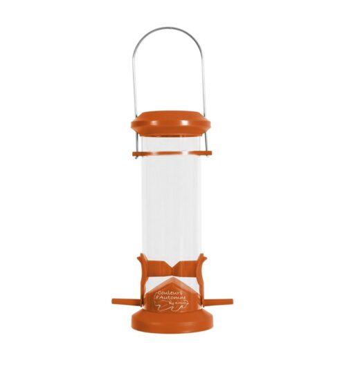 plastic silo bird feeder 2 perch orange - Zolux - Wild Bird Plastic Silo Feeder 2 Perch - Orange