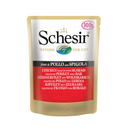 schesir cat chicken seabass 100g - Schesir - Cat Pouch Chicken Seabass 100g