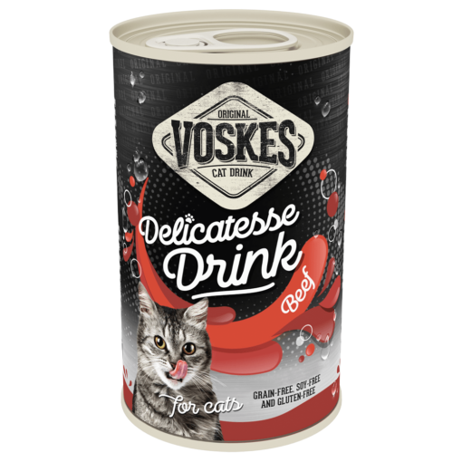 voskes delicatesse cat drink with beef 135ml 1 - Voskes Delicatesse Cat Drink with Beef (3x135ml) 405ml