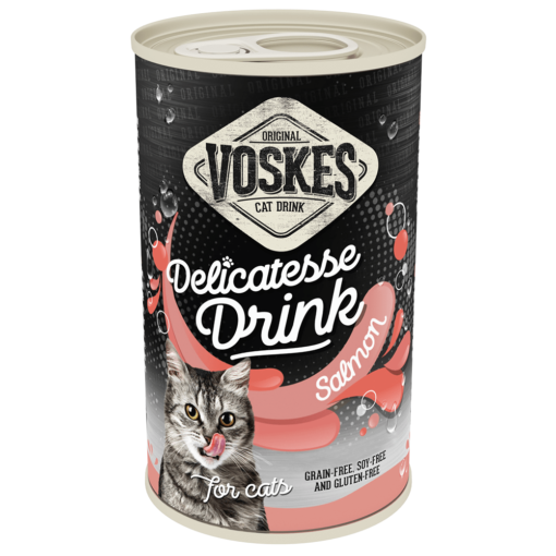 voskes delicatesse cat drink with salmon 135ml 1 - Voskes Delicatesse Cat Drink with Salmon (3x135ml) 405ml