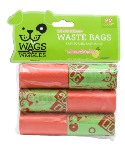 wags wiggles waste bags pineapple spike scent 90 bags - Deals