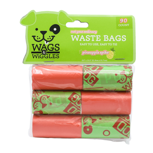 wags wiggles waste bags pineapple spike scent 90 bags - Wags & Wiggles Waste Bags Pineapple Spike Scent 90 Bags