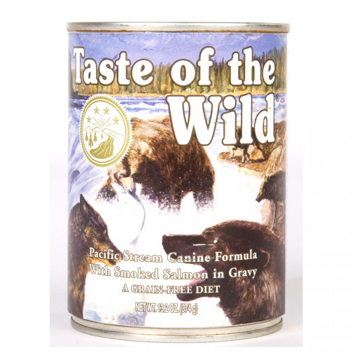 wet pacific stream 202 - Taste of The Wild - Pacific Stream Canine Recipe with Smoked Salmon (375G)