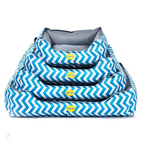 zigzag - OSKAR Zigzag Bed Blue